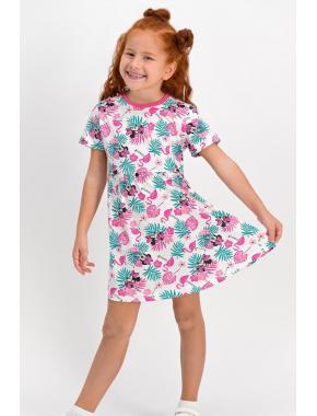 Minnie Mouse Lisanslı Pembe Kız Çocuk Homewear Elbise D4314-C