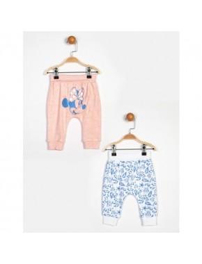 Minnie Mouse Pembe Beyaz 2'Li Pantolon 13926