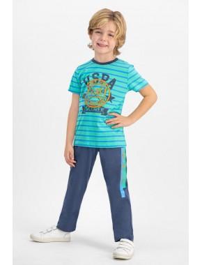 US Polo Mint Erkek Çocuk Pijama Takımı US620-C