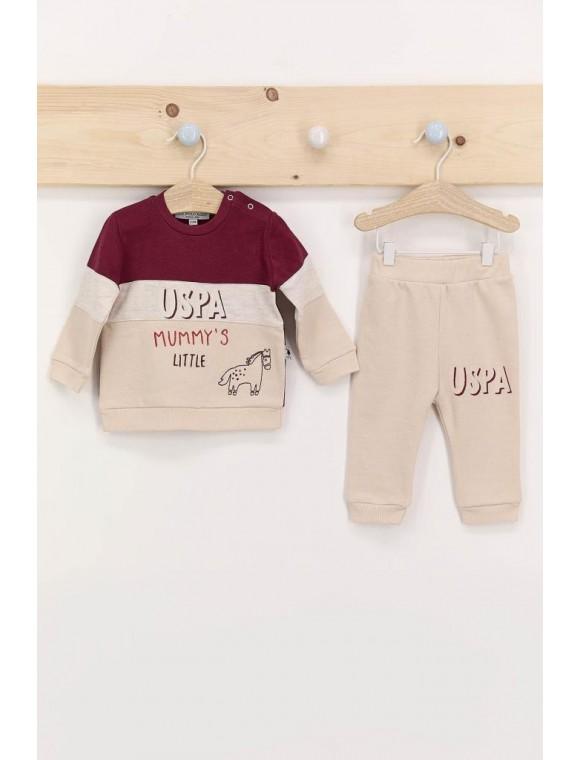 Mummy's Little Bordo Erkek Bebek Eşofman Takımı