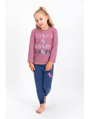 Mürdüm Lisanslı Kız Çocuk Pijama Takımı