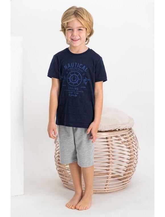 Nautical Sailing Lacivert Erkek Çocuk Bermuda Takım