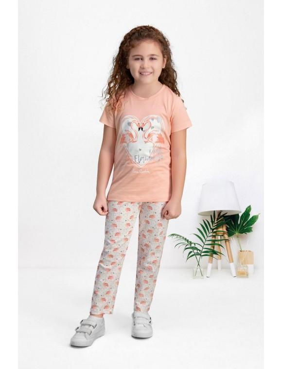Pierre Cardin Şeftali Kız Çocuk Pijama Takımı PC7507-C-V1