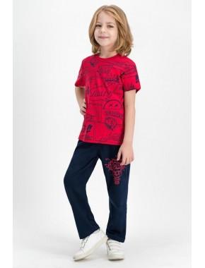 Pow Kırmızı Erkek Çocuk Pijama Takımı RP1663-C