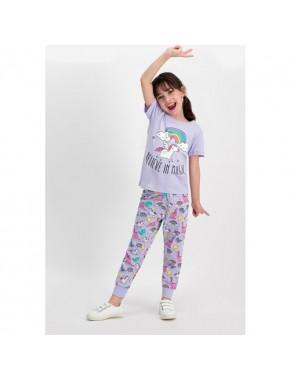 Believe Magic Lila Kız Çocuk Pijama Takımı
