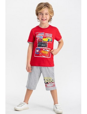 Rolypoly D4355 Cars Erkek Çocuk Kapri Şort Takım