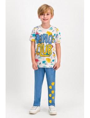 Rolypoly Dino Club Kremmelanj Erkek Çocuk Pijama Takımı RP1631-C