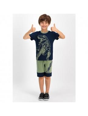 RolyPoly Dinosarius Lacivert Erkek Çocuk Bermuda Takım
