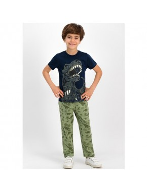RolyPoly Dinosarius Lacivert Erkek Çocuk Pijama Takımı