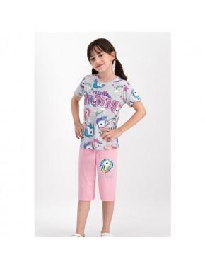 RolyPoly Forever Unicorn Karmelanj Kız Çocuk Kapri Takım
