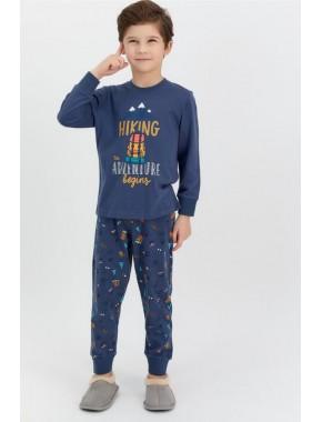 Rolypoly Hiking Adventure Koyu Indigo Erkek Çocuk Pijama Takımı