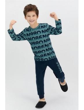 Rolypoly Petrol Mavisi Erkek Çocuk Uzun Kol Pijama Takımı