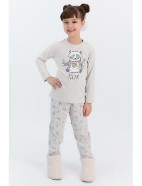 Rolypoly Relax Bejmelanj Kız Çocuk Pijama Takımı