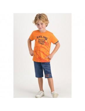Sailing Pacific Turuncu Erkek Çocuk Kapri Takım