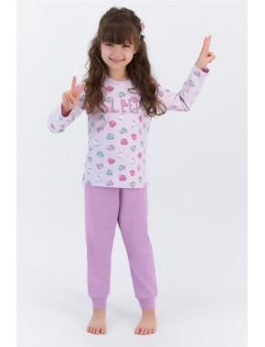 Rolypoly Sleep Açık Lila Kız Çocuk Pijama Takımı