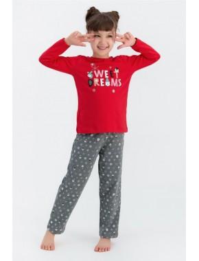 Rolypoly Sweat Dreams Kırmızı Kız Çocuk Pijama Takımı