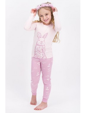 Rolypoly Tozsomon Rabbit Happy Kız Çocuk Pijama Takımı