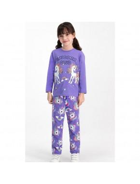RolyPoly Unicorn Club Karmelanj Kız Çocuk Pijama Takımı