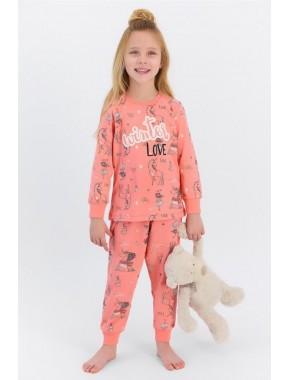 Rolypoly Winter Love Coral Kız Çocuk Pijama Takımı