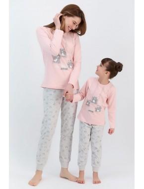 Smile Every Day Pudra Kız Çocuk Pijama Takımı