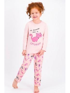 Somon Caturday Kız Çocuk Pijama Takımı