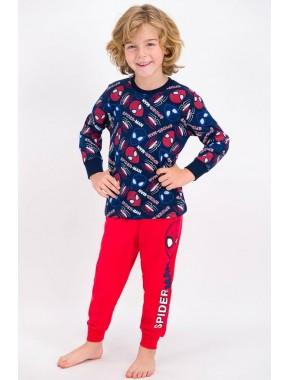 Spider Man Lacivert Lisanslı Erkek Çocuk Pijama Takımı