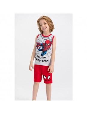 Spiderman Lisanslı Karmelanj Erkek Çocuk Bermuda Takım