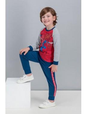 Spider Man Lisanslı Kırmızı Erkek Çocuk Eşofman Takımı V2