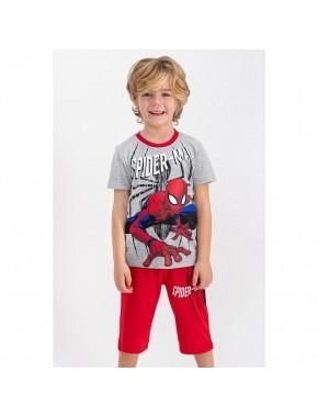 Spider Man Lisanslı Kırmızı Erkek Çocuk Kapri Takım