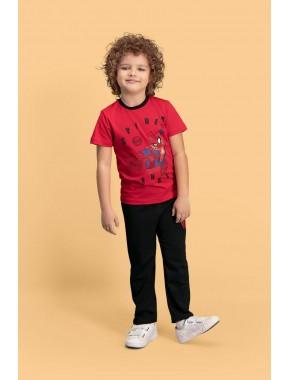 Spider Man Lisanslı Kırmızı Erkek Çocuk Pijama Takımı D4139-C-V1