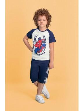 Spider Man Lisanslı Krem Erkek Çocuk Kapri Takım D4140-C-V2