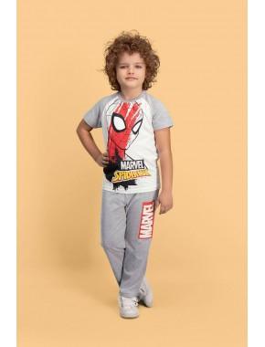 Spider Man Lisanslı Krem Erkek Çocuk Pijama Takımı D4141-C-V2