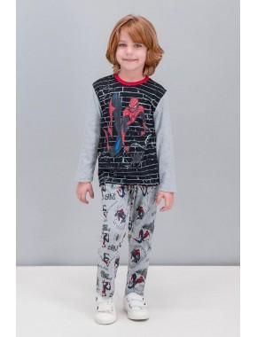 Spider Man Lisanslı Siyah Erkek Çocuk Pijama Takımı V2