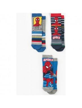 Spiderman Çocuk 3'lü Çorap 13125