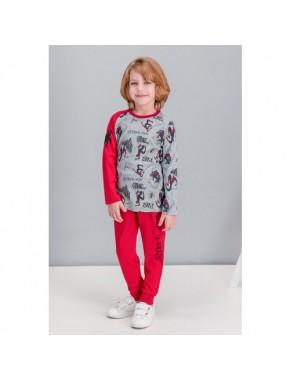 Spiderman Lisanslı Grimelanj Erkek Çocuk Pijama Takımı
