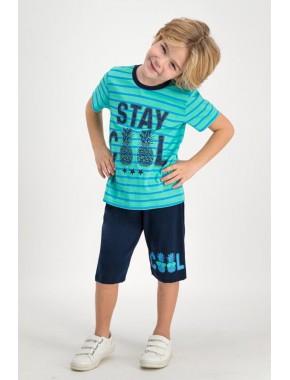 Stay Cool Mint Erkek Çocuk Kapri Takım RP1650-C