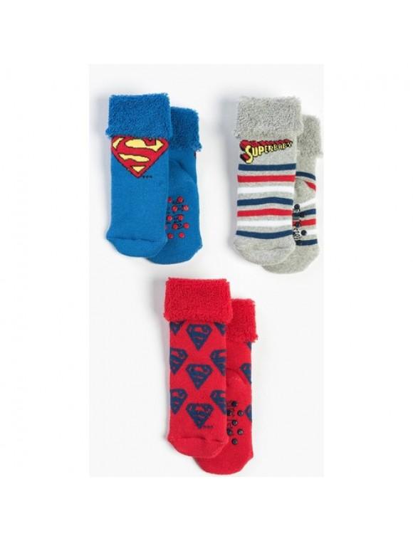 Superman Bebek 3'lü Havlu Çorap 13661