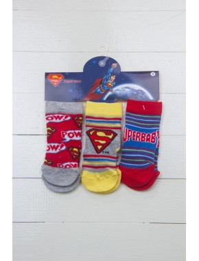 Superman Bebek Çorap 3'lü Soket Çorap 14183