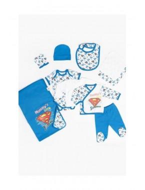Süperman Erkek Bebek Yeni Doğan Lisanslı Hastane Çıkış Seti T20Y15999DSN01
