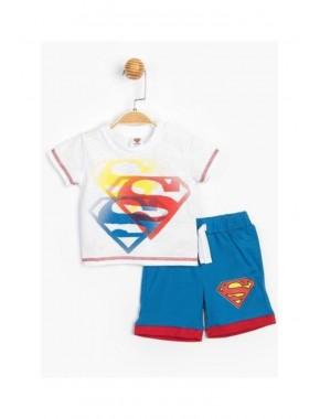 Superman Lisanslı Erkek Bebek Şortlu 2 Li Takım T20Y15556DSN01