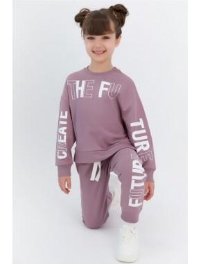 The Future Leylak Kız Çocuk Eşofman Takımı