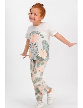 Tropical Love Kremmelanj Kız Çocuk Pijama Takımı RP1784-C