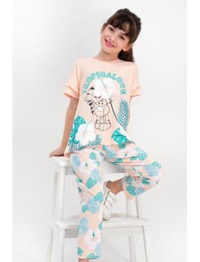 Tropical Love Yavruağzı Kız Çocuk Pijama Takımı RP1784-C