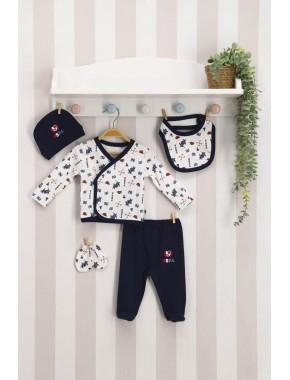 U.s. Polo 5 Li Zıbın Hastane Çıkışı Erkek Bebek Krem
