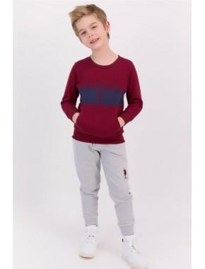 U.s. Polo Assn Basic Bordo Erkek Çocuk Eşofman Takımı
