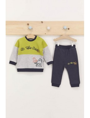 U.s. Polo Assn Fıstık Yeşili Erkek Bebek Eşofman Takımı