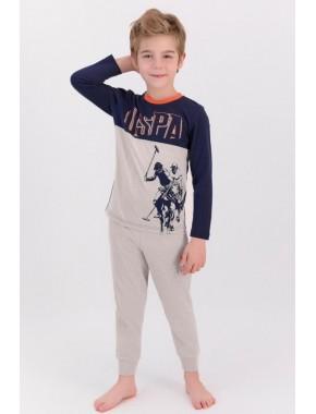 U.s. Polo Assn Lacivert Bejmelanj Erkek Çocuk Pijama Takımı