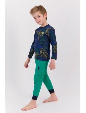 U.s. Polo Assn Lacivert Erkek Çocuk Pijama Takımı