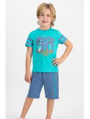 U.s. Polo Assn Lisanslı Aqua Erkek Çocuk Bermuda Takım US628-C