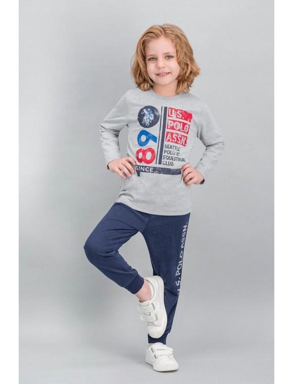 U.S. Polo Assn Lisanslı Grimelanj Erkek Çocuk Pijama Takımı V1